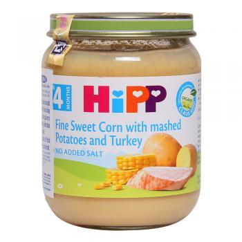 Dinh dưỡng đóng lọ ngô bao tử, khoai tây, gà tây HiPP