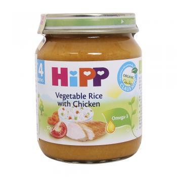 Dinh dưỡng đóng lọ cơm nhuyễn, thịt gà, rau HiPP